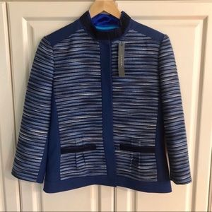 NWT Tahari Blue Embroidered Blazer